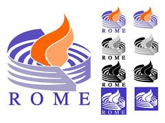 première proposition de logo pour le projet ROME