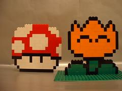 LEGO Super Mario powerups (benjibot) Tags: lego mario nes