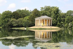 Temple of Music (richardr) Tags: old uk greatbritain england lake reflection building green english heritage history nature yellow architecture garden island europe european unitedkingdom britain chilterns buckinghamshire historic georgian british statelyhome nationaltrust europeanunion folly arcadia midlands wycombe westwycombe georgianarchitecture francisdashwood greekrevival templeofvesta templeofmusic palladian westwycombepark dashwood hellfireclub historicalplaces eighteenthcentury 10faves nicholasrevett palladianarchitecture