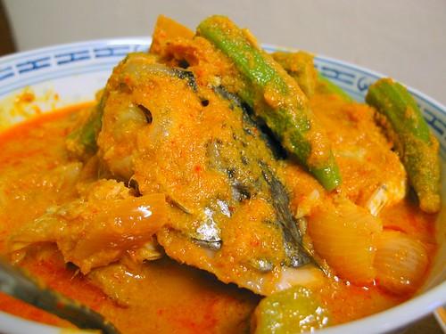 Fish Head In Spicy Tamarind Gravy (Nonya Style)