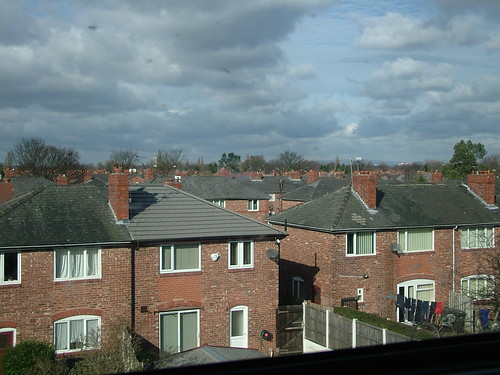 Manchester Suburb seen from Train to Harrogate
