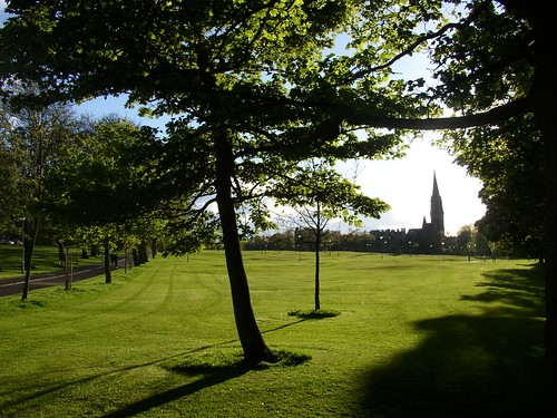 The pitch n putt golf course in Bruntsfield Links.