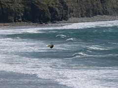 Jumping in Spanish Point surf (kiteboarding) Tags: kiteboarding spanishpoint kitesurfing ireland geotagged geolat52865840 geolon9428372