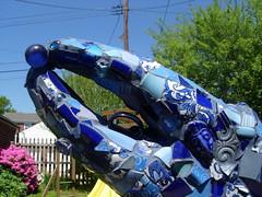 chela back detail (dogfaceboy) Tags: mosaic crab baltimore acrabslife crabtown