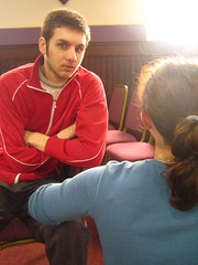 Craig not pulling a face, its a miracle! (Byrnesyliam) Tags: craig hannah stcombs church
