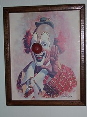 Scary clown painting