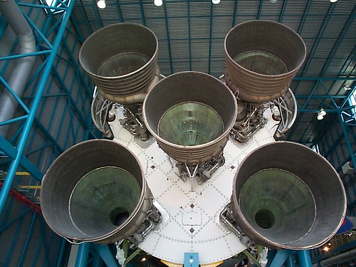 Underneath the Saturn V