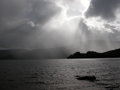 Loch Lomond under storm clouds