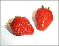 Strawberries (SFrost007) Tags: strawberries white red macro manchester uk