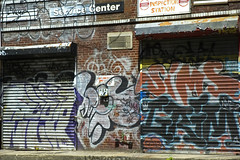 sims and serf (street stars) Tags: city nyc urban streetart ny les graffiti decay grims