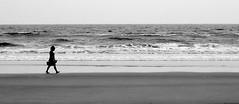 Keep Walking (Daniel Pascoal) Tags: ocean sea bw praia beach public water girl topv111 gua walking mar sand girlfriend areia wide pb namorada garota andando dpg oceano joice jtaveira danielpg