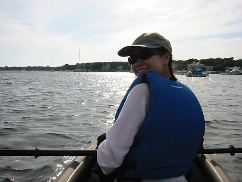Elaine on Kayak