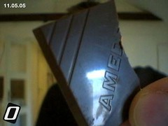 A piece of shiny high-quality chocolate (plindberg) Tags: isight amedei chuao chocolate