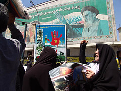 demonstration against USA (pooyan) Tags: news 2004 iran hijab demonstration tehran   pnvpcom pooyantabatabaei peopleinthenews againstusa