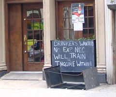 Drinkers Wanted by Vidiot, on Flickr