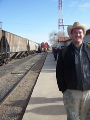 Dan at the Train Station (lancefisher) Tags: dan train mexico trainstation takenbylance cuauhtemoc