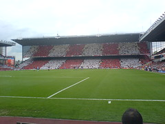 view of the north bank (seanbjack) Tags: highbury arsenal lastgame clockend finalsalute