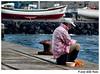 The Fisherman's Dream (1) ... (Azorina) Tags: ocean blue sea portrait people portugal water água azul mar fisherman poetry poem faces poesia goethe pescador poema azorina