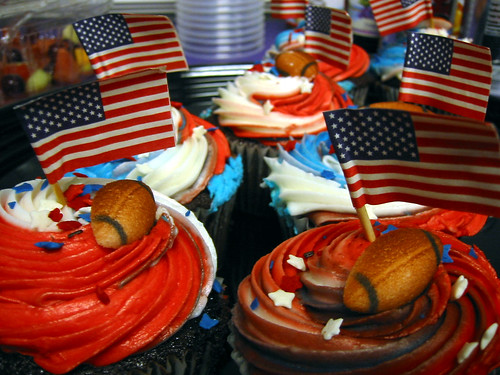 Patriot Superbowl Cup Cakes