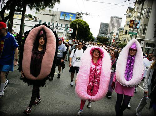 Vaginas! -- vagina marathon vulvas clitoris mmm purple breakers bay san francisco baytobreakers sanfrancisco