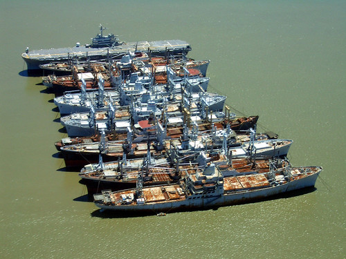 Mothball fleet, Suisun Bay, California