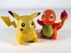 Pikachu & Charmander (WEBmikey) Tags: toys pokemon pikachu charmander