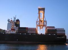 Yang Ming Wealth (bombaydigital) Tags: sanfrancisco oakland boat ship cargo sail alameda