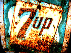 "rusty ""7 up"" sign in California (ArtsySF  ~ Marjie) Tags: favorite sign interestingness rusty explore rusted sonomacounty santarosa 700 crusty 7up 600views 700views over500views 37countasfavorite 6048307 mosaicphotoforbuzznet"