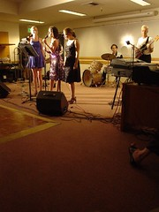 Getting funky (gucky) Tags: thedeadtongues live band stanford linguistics party sparklydresses vocalists