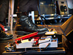 (scottintheway) Tags: music festival rock boot foot concert edmonton guitar folk amp olympus fx wilco zuiko tweedy edmontonfolkmusicfestival pedal evolt docmarten e500 zd 1454mm 1454 f2835