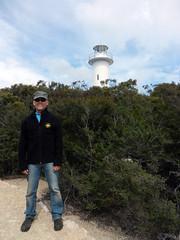 Tiny lighthouse (LeelooDallas) Tags: australia tasmania woods tree forest landscape dana iwachow lighthouse steve nikon coolpix s9100