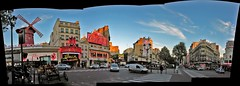 Place Blanche (O Caritas) Tags: 2005 november autostitch panorama paris france windmill composite europe ledefrance moulinrouge nikoncoolpix8800 placeblanche