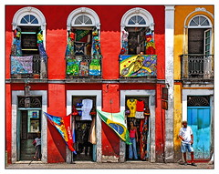Primary Colours.... (lapidim) Tags: salvador bahia pelourinho colours red blue yellow unesco brasil brazil ventana topf25 ph097 topf50 topv444 500v50fv