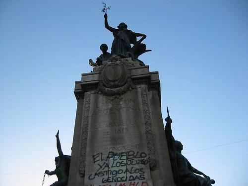 Estatua en la Plaza del Congreso, Buenos Aires, Argentina