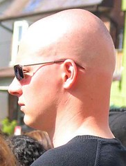 Best Shaved Head Around (Flatboy) Tags: sun haircut sunglasses neck glasses head smooth shaved bald ear shave razor