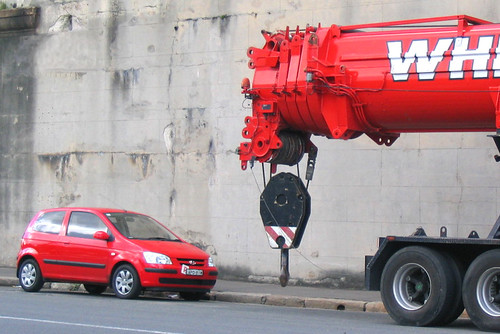 Tow truck overkill by Dave Pinn.