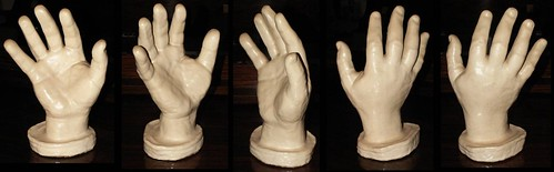 Hand casts of pianists & composer Anton Rubinstein.