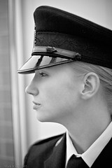 Graduation Day (Mark Klotz) Tags: blackandwhite woman canada beautiful beauty mono women pretty cops bc asahi pentax takumar bokeh graduation police naturallight blonde policewoman lovely naturalbeauty 50mmf14 daydreaming policewomen markklotz womeninuniform myfavouritephotos