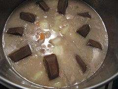 Making Japanese Curry, Adding Sauce Chunks