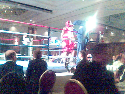 Boxing Championships - red sequin shorts