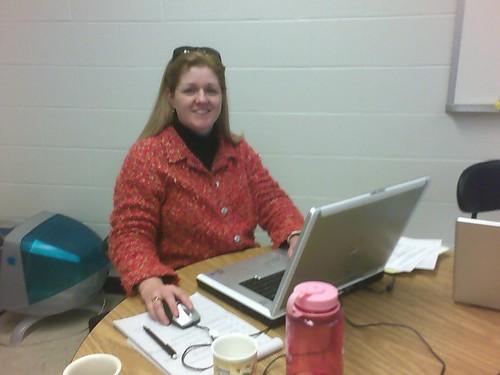 Trina at work...