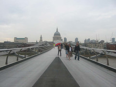 Millenium bridge & st Pauls Cathedral