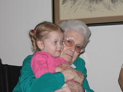 Amy and Great Granny Dec 2005