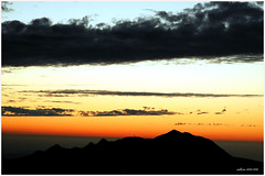 Sunset of Guanyin Mountain (flyone) Tags: sunset red sky cloud mountain landscape topv1111 flyone
