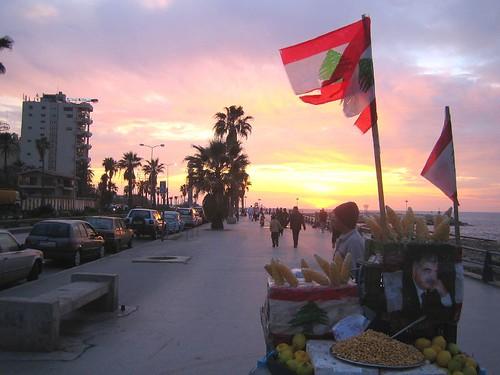Lungomare di Beirut, Libano.