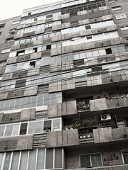 residential (batintherain) Tags: romania building bucharest windows wires residential apartaments house