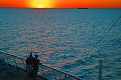 Fiery Red Sky on the Horizon (Jeff Clow) Tags: nikond70 cruise sunset top20sunrisesunset