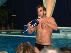 Wasserballer (Howie_Berlin) Tags: hairy male sports pool muscles sport swimming body muscle chest belly torso speedo abs waterpolo schwimmbad wasserball wasserfreundespandau04 honvedbudapest