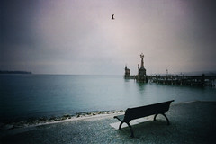 bleak (maxivida) Tags: blue winter cold bench january desolate konstanz maxivida constance lakeofconstance serenidad 500views50fav