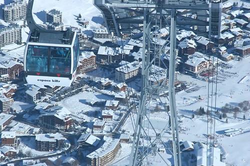 Estación en los Alpes
